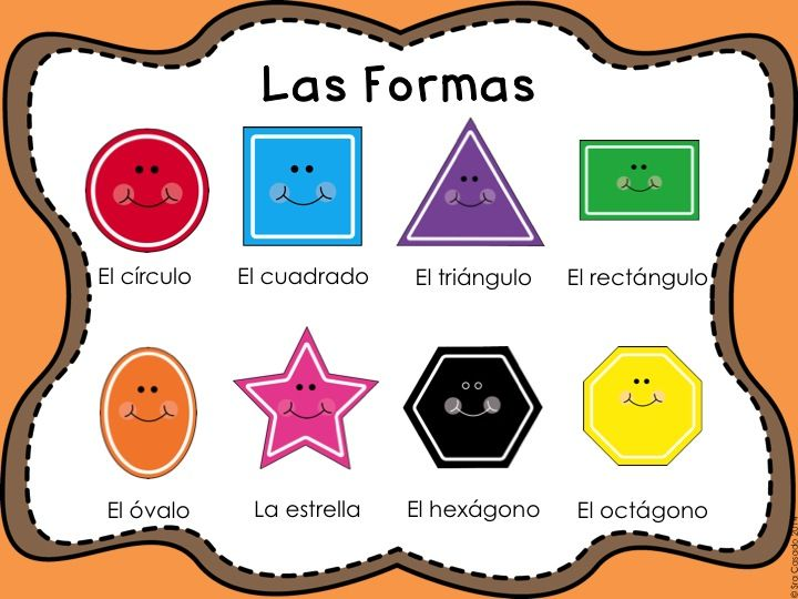 List of Shapes in Spanish