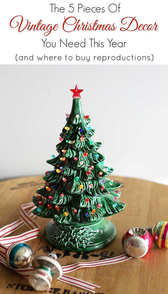 5 Iconic Vintage Christmas Decor Items Vintage Christmas Decorations Vintage Ceramic Christmas Tree Vintage Christmas