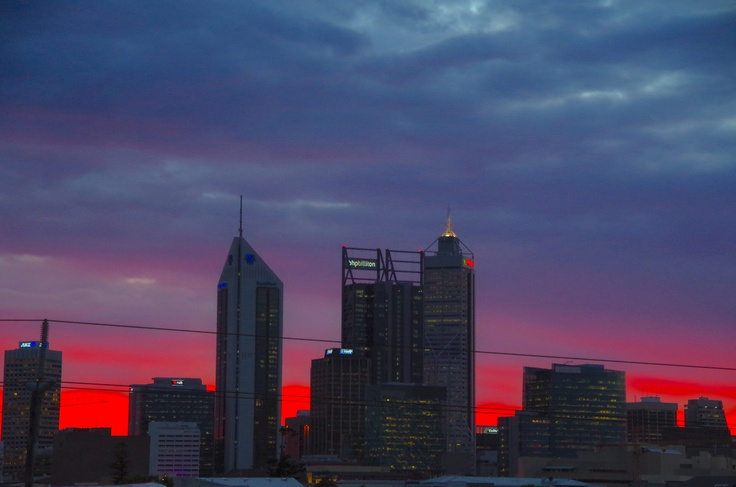 Perth skyline sunset, WA