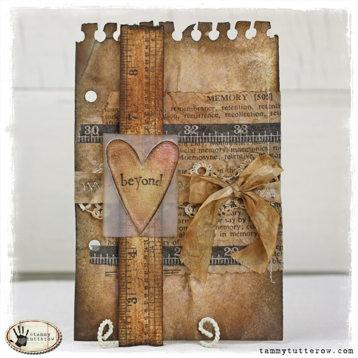 Tuesday Tutorial: Love Beyond Measure Art Journal Page by @Tammy Tutterow.
