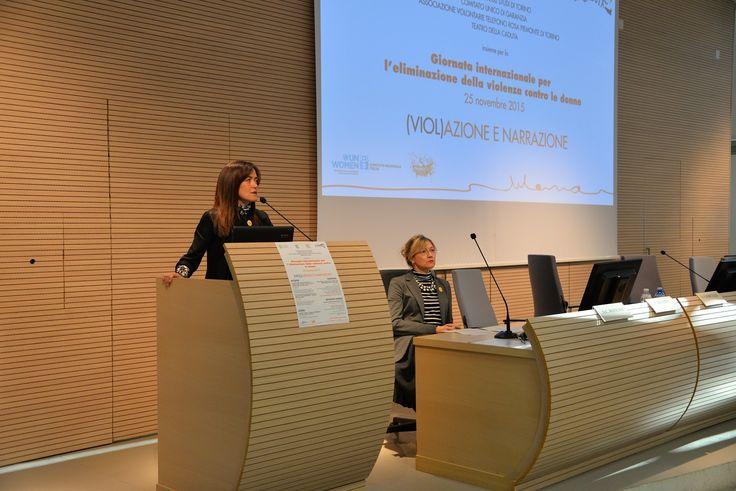 Convegno (Viol)azione e narrazione - 25 novembre 2015 -  prof.ssa Scomparin, Direttrice Dip. di Giurisprudenza e prof.ssa Giorcelli