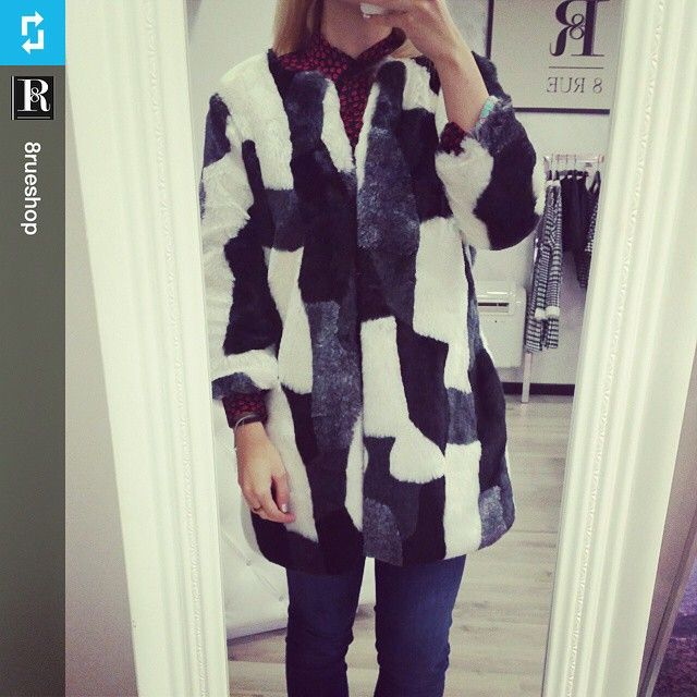 #Repost from @8rueshop  with @repost.app New eco fur coat!  #news #newshop #8rue…