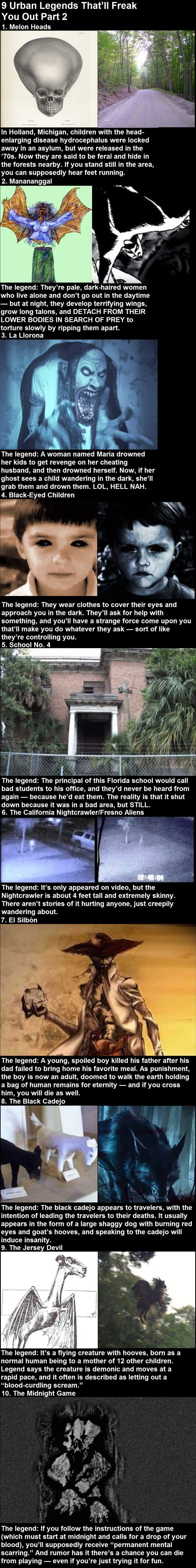 9 Urban Legends That'll Freak You Out