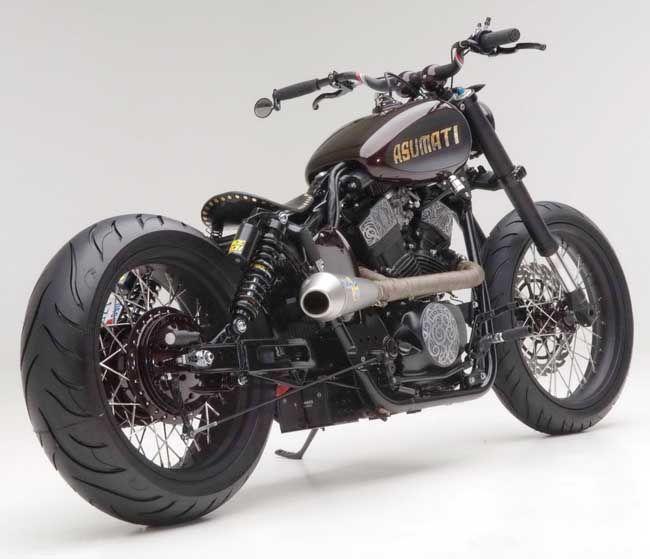 bobber+motorcycles | Asumati Honda VT750 ST Bobber Motorcycle Right Rear | USA Bobbers
