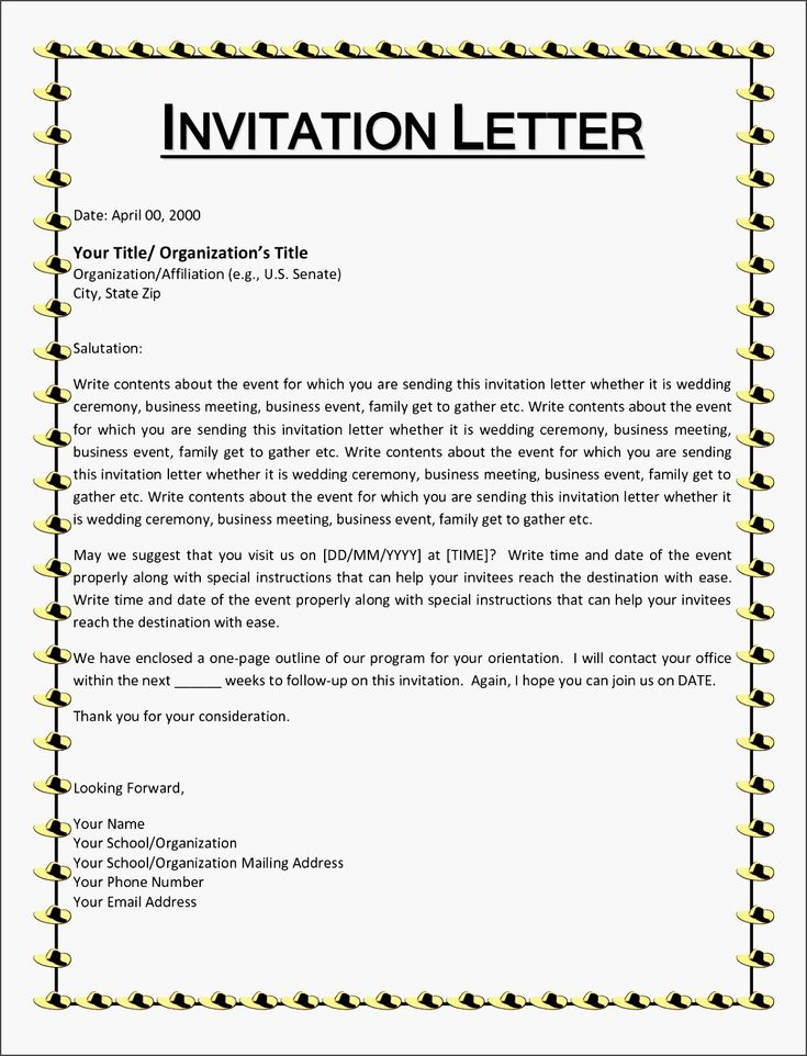 10 best Thank You Letters images on Pinterest Cover letter - example of invitation letter