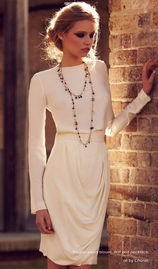 #fashion all white in head to toe Chanel