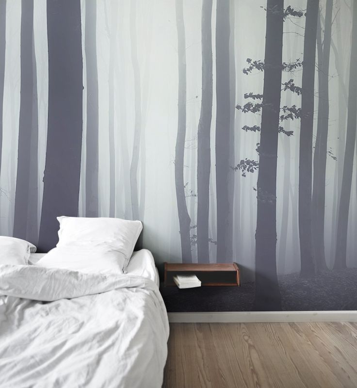 A stunning forest mural that bring the outside in.
