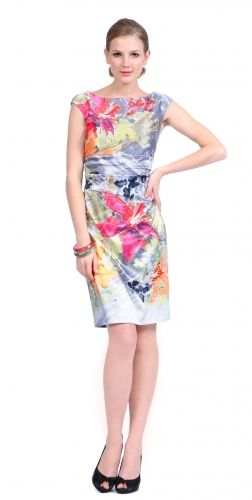 placed floral print dress