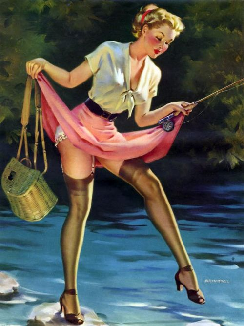 I know I don't hit the river without heels and hose...haha actually I could picture myself doing this.