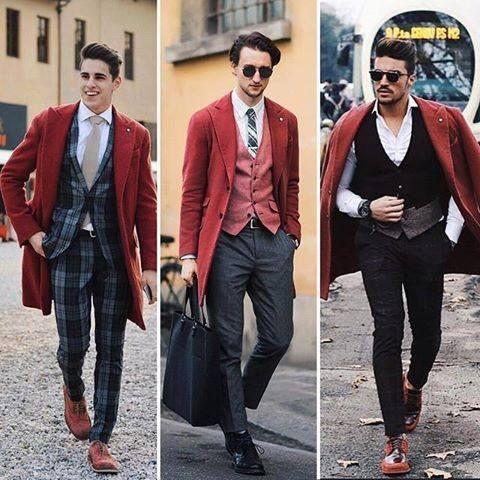 """Modnie z Piazza Di Moda  """"Trzej topowi włoscy blogerzy. Trzy różne stylizacje i jeden płaszcz od Lubiam! 1,2, czy 3? Kto wypadł najlepiej?  www.piazzadimoda.pl"""""""