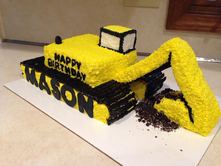 how to make an excavator cake