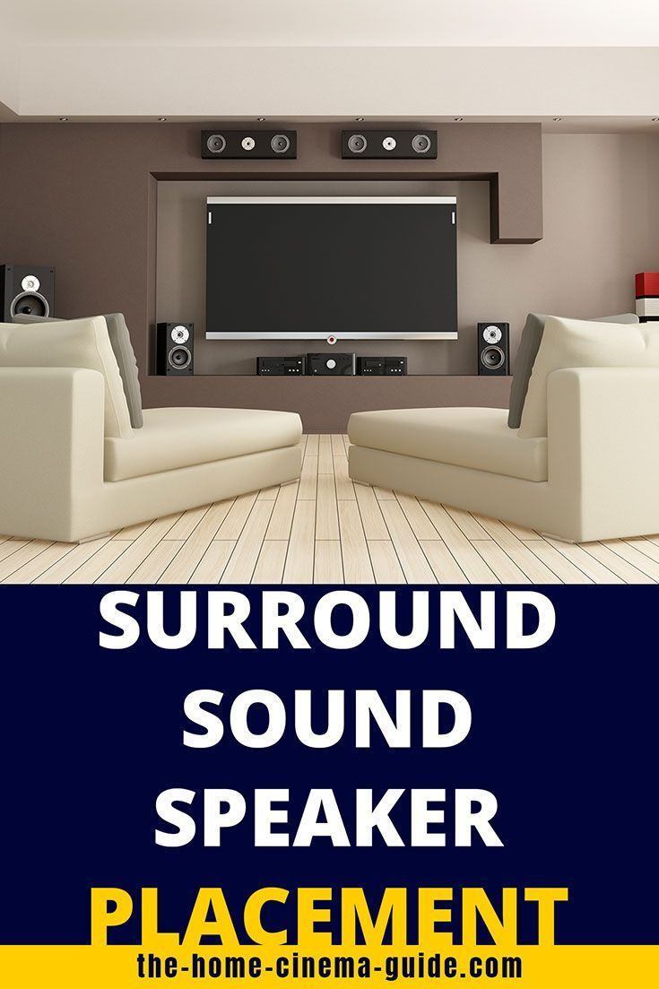 Pin On Home Theater Speakers For Surround Sound Living room speaker placement