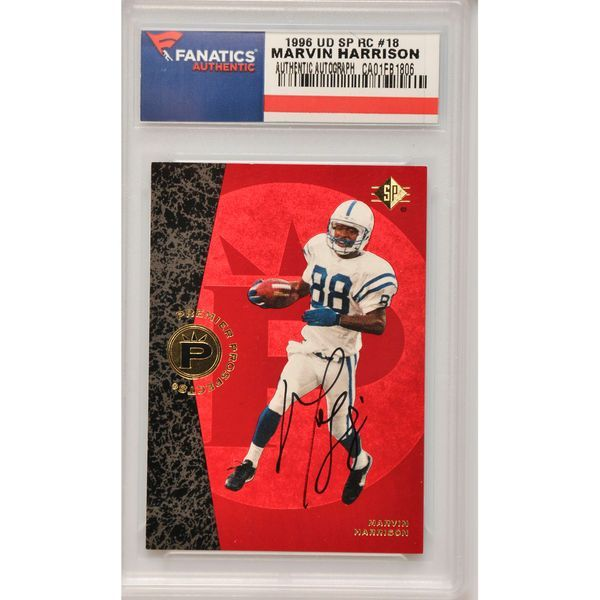 Marvin Harrison Indianapolis Colts Fanatics Authentic Autographed 1996 Upper Deck SP Rookie #18 Card - $159.99