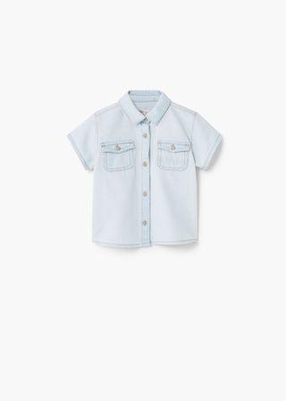 Camisa de ganga bleached | MANGO KIDS