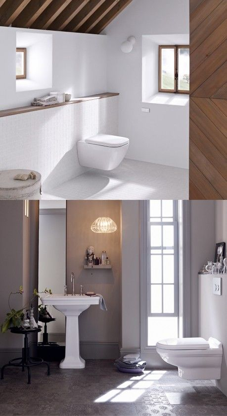 Love how Geberit's wall mounted toilet systems remove so much clutter and give the bathroom more space :)