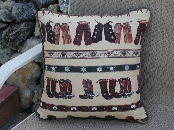 Hey, I found this really awesome Etsy listing at https://www.etsy.com/listing/163755381/decorative-throw-pillows-cowboy-gear