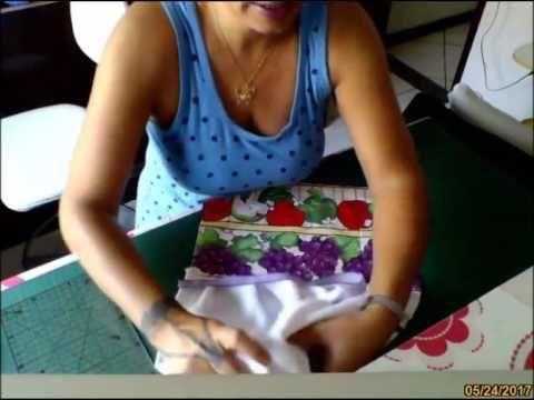 Como Costurar o Pano de Prato e o Bate Mão - YouTube