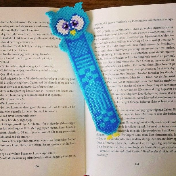 Owl bookmark hama mini beads by sofievindum                              …                                                                                                                                                                                 More