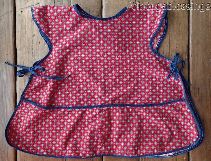 Adorable Red Vintage 30-50s Small Childs Cobbler Apron