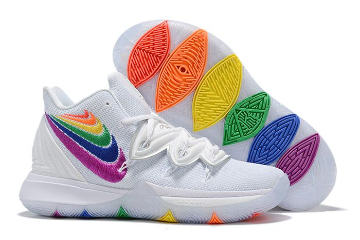 2019 Nike Kyrie 5 Rainbow Multi Color For Sale Basketball Shoes Kyrie Girls Basketball Shoes Nike Basketball Shoes