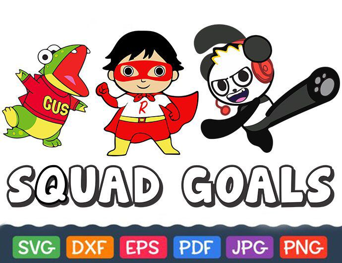 Ryans World Squad Goals Svg Separated Ryan Bundle Gus Svg Shirt Sippy Cup Panda Svg Ryan Superhero Svg Cricut And Silhouett Ryan Toys Squad Goals Svg Kids