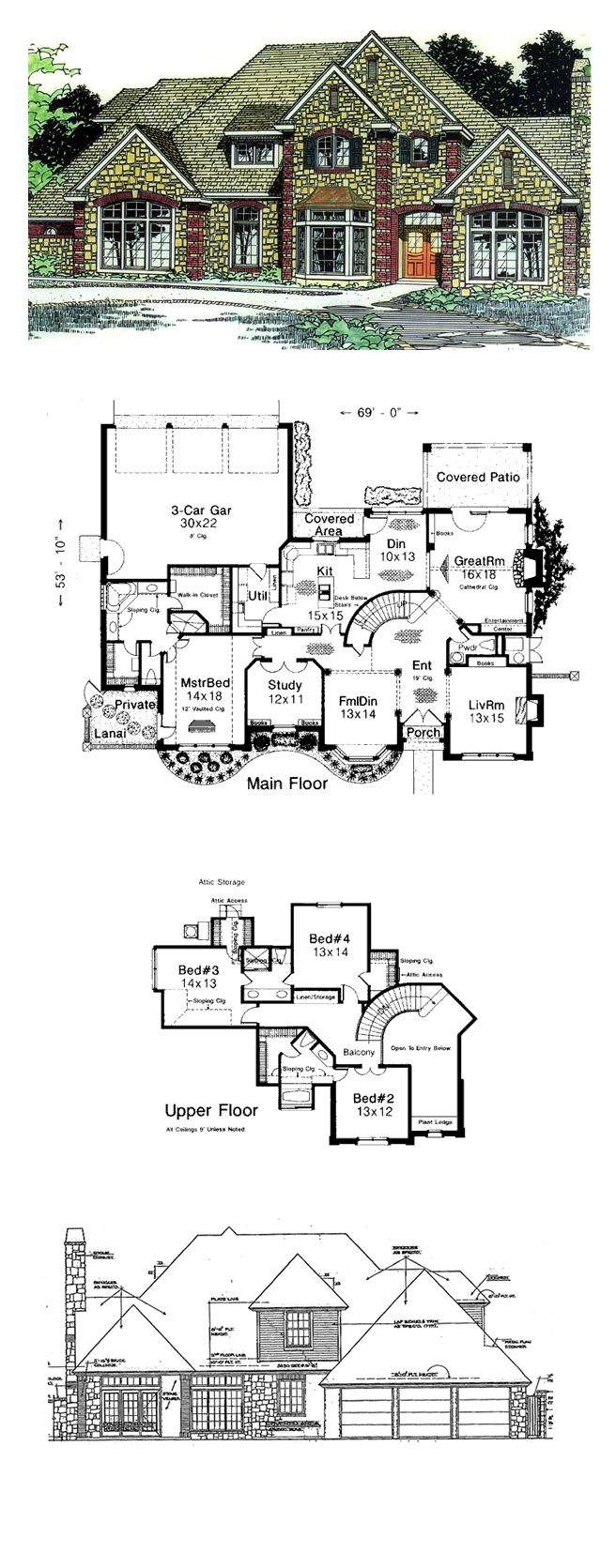 51 best French Country House Plans images on Pinterest | Country ...