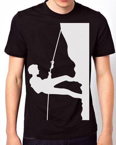 Rock Climbing Black T-Shirt for sale ($28.00) - Svpply