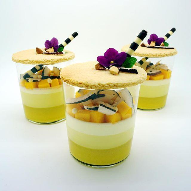 almond • coconut • pineapple • mango .