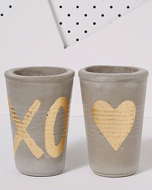 Adorable concrete cups by Design Twins. Available Online at Koskela
