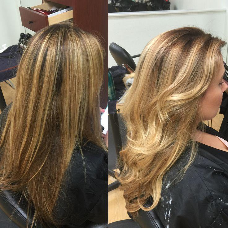Redlands Hair Stylist Color Correction Stripe Blonde Foil