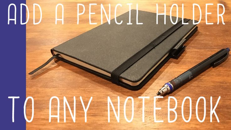 add a pen/pencil holder to any #notebook (easy #DIY) #lifehack #art