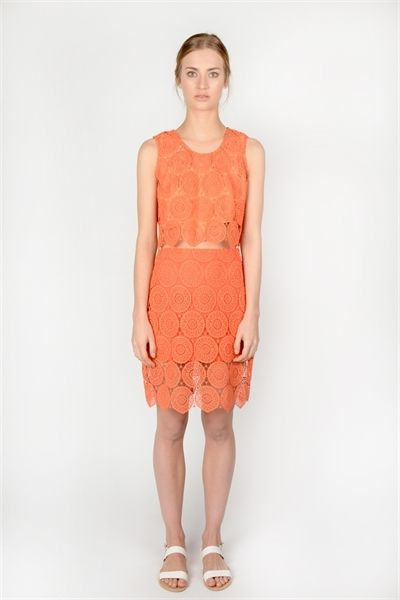 Kerri Skirt  http://relatedapparel.com/Kerri-skirt.aspx  #relatedapparel #related #skirt #myrelated #fashion #orange #summer #trend