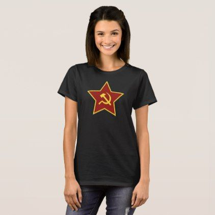 Red Star Hammer and Sickle Women's T-Shirt - red gifts color style cyo diy personalize unique