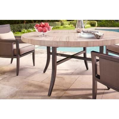 Brown Jordan Greystone Patio Dining Table With Umbrella Hole    STOCK