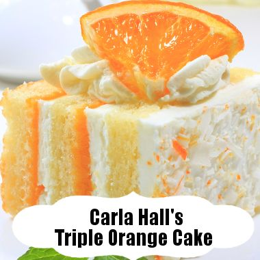 The Chew Carla | The Chew: Carla Hall's Triple Orange Cake Recipe With Orange Juice