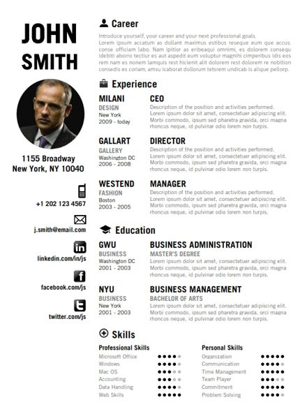 7 Best Creative Resume Template Images On Pinterest | Resume