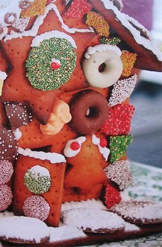 Recept snoephuisje en sjabloon eerst maken van karton. Alle onderdelen van het huisje (sjablonen) print je, knip je uit en plak je op karton en snij je uit