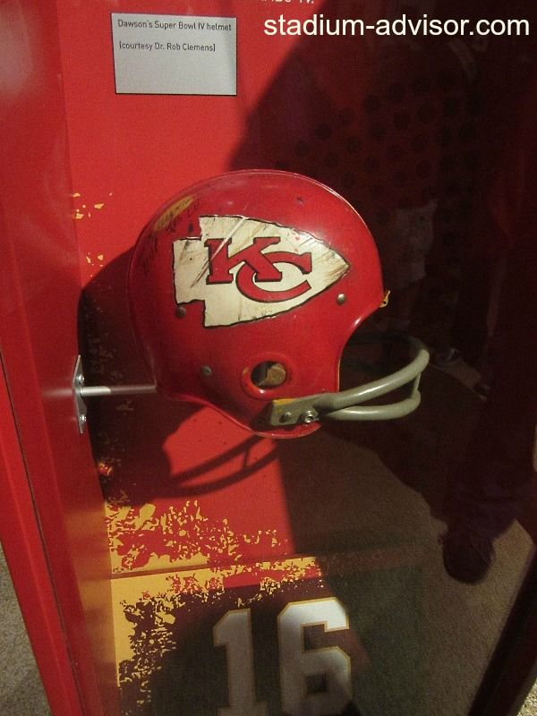 Len Dawson's Helmet from Super Bowl IV http://www.stadium-advisor.com/kansas-city-chiefs-schedule.html