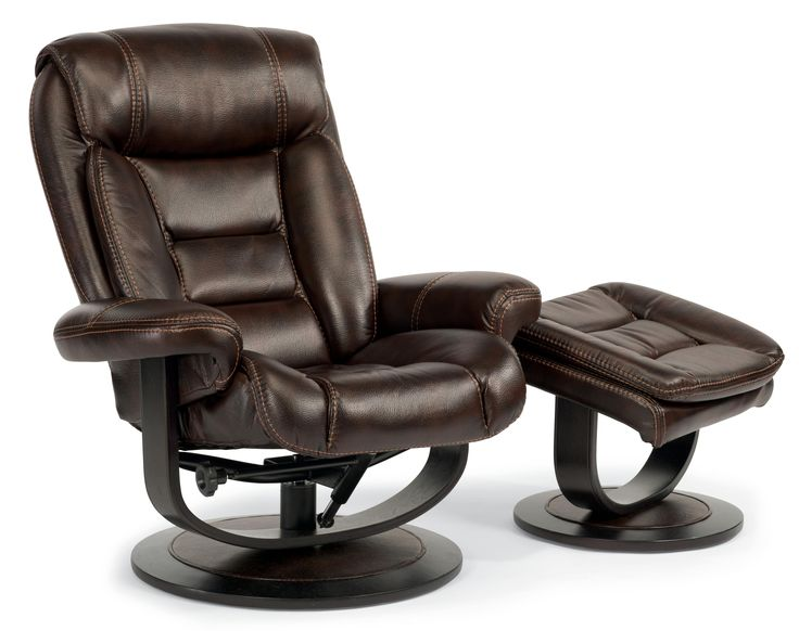 Latitudes Hunter Reclining Chair And Ottoman Set By Flexsteel At Conlinu0027s  Furniture