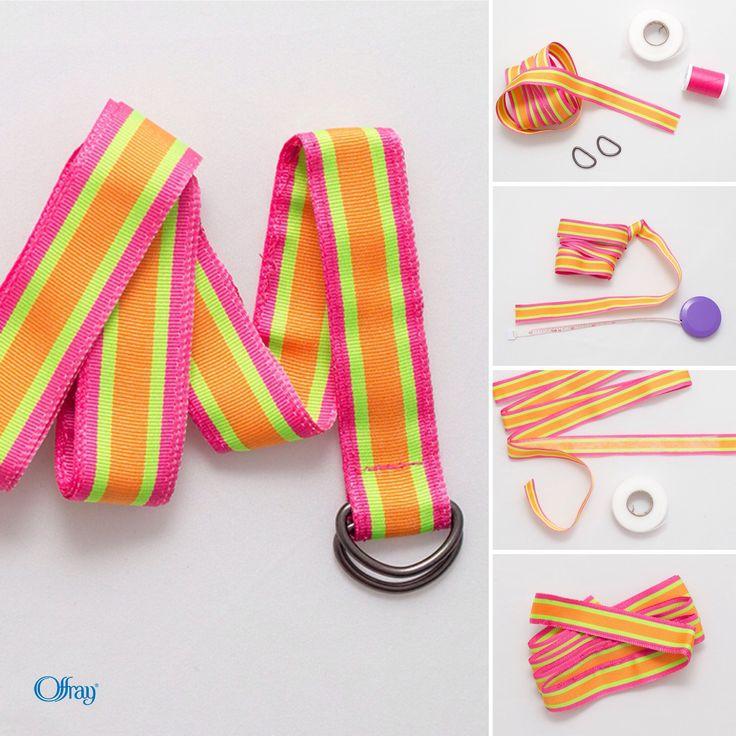 DIY Grosgrain Kids Ribbon Belt Tutorial by Offray Ribbon
