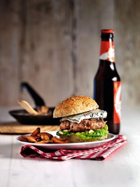 Buffalo-Ranch-Burger mit Marsala-Champignons Rezept - [ESSEN UND TRINKEN]