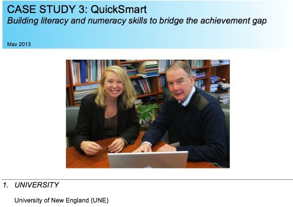 QuickSmart Featured as Case Study in the Regional Universities Network's Study of Impact and Research Benefit.