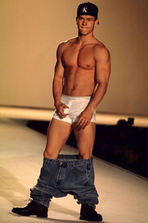 Classic sexy male celebrity Mark Wahlberg in Calvin Klein underwear ;) #hunk