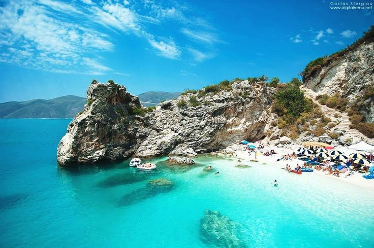 Lefkada Island - Agiofylli beach (Ionian Sea, Greece)