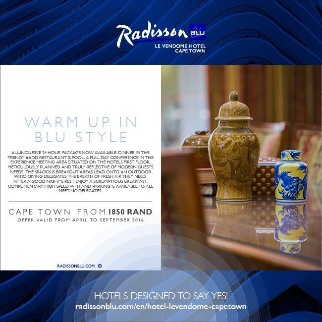 Radisson Blu Le Vendome Hotel, Cape Town – Winter 24Hour Day Conference Offer