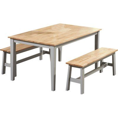 Beecher Falls Dining Set with 2 Benches