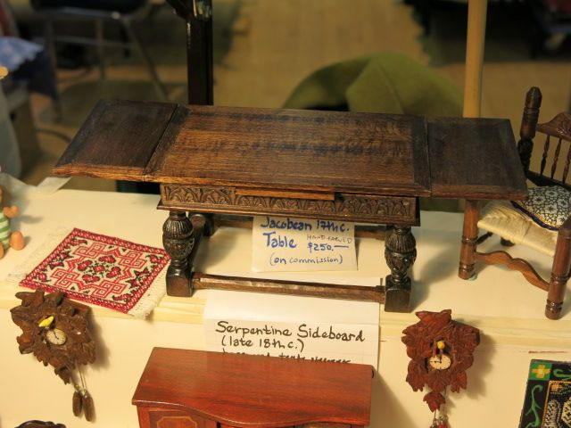 Miniature Enthusiasts of Toronto Show 2014 Jacobean Table by Laura Lisowsky