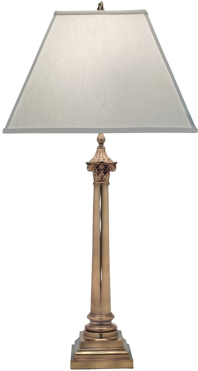 33 inchh genuine stiffel 3 way table lamp aged brass