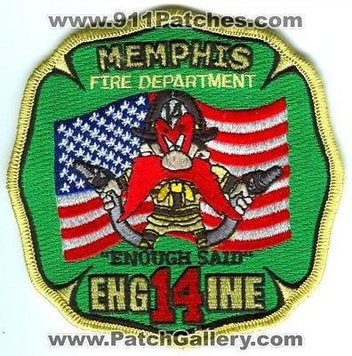 Memphis Fire Department Engine 14 MFD Company Yosemite Sam Patch Tennessee TN