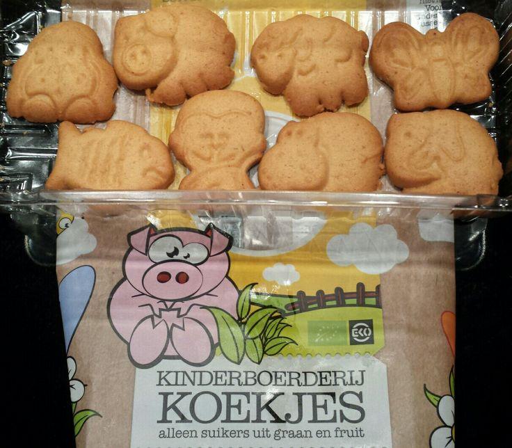 Leev biologische kinderboerderij koekjes... met aap, nijpaard en olifant?